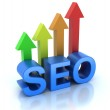 SEO - Search Engine Optimization is growing — Stock Photo