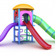 Colorful playground for childrens. Isolated on white — Photo