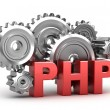 Photo: PHP Coding concept on white