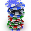 Poker gambling chips — 图库照片