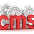 CMS : content management system concept - Stock Photo