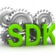 Royalty-Free Stock Photo: Sdk concept on white