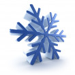 3D snowflake over white — Stock Photo #7247473