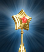 Gold Star on white background — Stock Photo