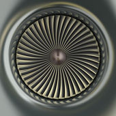 Gas Turbine Jet Engine — Stock Photo