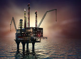 Drilling offshore Platform — Stock Photo