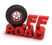Off-road racing symbol — Stock Photo