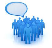 Begreppet kommunikation - skara. isolerad på vit — Stockfoto