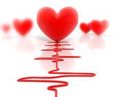Corazón rojo. aislado en blanco. — Foto de Stock