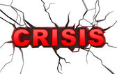 Crisis concept on white craked surface — Stock Photo