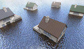 Flooded homes — Stock Photo
