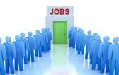рабочий центр: ищу работу — Стоковое фото