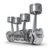 поршневые двигатели и винтик. 3d изображение. — Стоковое фото