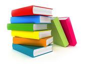 Arco iris de libros en blanco — Foto de Stock
