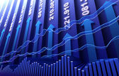 Stock market abstract background — Photo