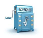 Music box - giocatore retrò, immagine 3d isolato su bianco. — Foto Stock