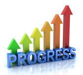 Progress colorful graph concept — Stock Photo