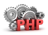 PHP Coding concept on white — Stock Photo