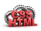 Html, css coding konzept auf weiß — Stockfoto