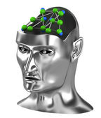 Neural net,Thinking process brain gears — Stock Photo