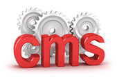 CMS : content management system concept — Stock Photo