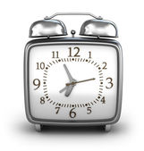 Alarm clock. Isolated on white 3d render. — Stock Photo