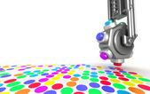 Printer make a picture closeup concept — Stock Photo