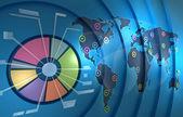 Website graph analytics — Stock Photo