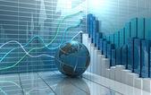 股票市场抽象背景 — 图库照片