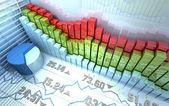 Astratto colorato mercato azionario — Foto Stock