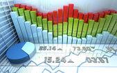 Abstrato colorido mercado de ações — Foto Stock