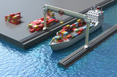 Tanker ship sails across the Ocean — Stock Photo