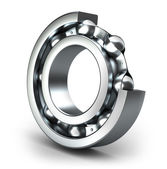Detailed bearings production — Stockfoto