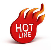 Hot Line icon over white — Stock Photo