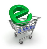 E-commerce 3D icon , isolated on white — Stock Photo
