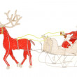 African Santa and sleigh — Stock Photo