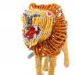 African liondecorative beadwork — Stock Photo