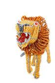 African liondecorative beadwork — Stock Photo