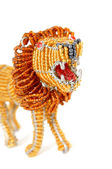 Close-up of African lion decoration — Stock Photo