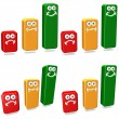 Clipart Bars Graphs — Stock Photo