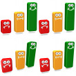 Clipart Bars Graphs - Stock Photo