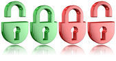 Padlock Icons — Stock Photo