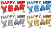 New Year Greeting Cards — Stock Photo