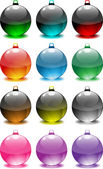 Christmas Tree Decorative Spheres — Stock Vector