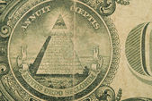 Macro Detail Of An Old One Dollar Bill — Stock Photo