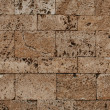 Travertine block wall — Stock Photo