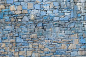 Blue stone wall — Stock Photo