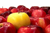 Red apples and yellow one — Stock Photo