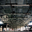 Stock Photo: Abandoned plant symmetric interior