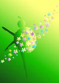 Цветочная балерина — Stock Vector
